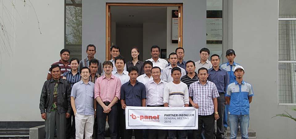 Partner-Installer General Meeting 2010 untuk bangunan gedung anti, tahan gempa dan ramah lingkungan